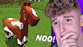 My Minecraft Horse DISAPPEARED?! (WTF)