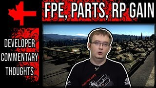 War Thunder - Developer Commentary Thoughts - FPE, Parts, RP Gain
