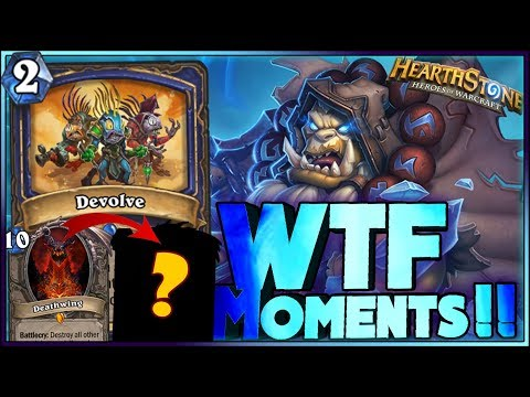 Hearthstone – DEVOLVE WTF Moments – Frozen Throne Rng Moments
