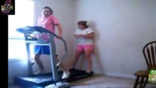 "Laughing gas released to the screen ""joke"" treadmill"
