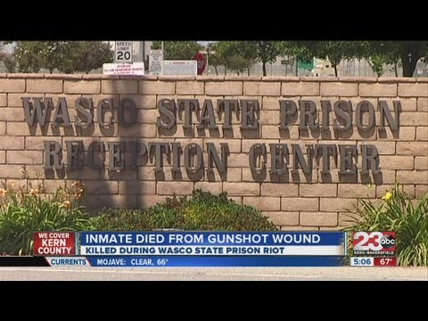 Wasco inmate died from gunshot wound