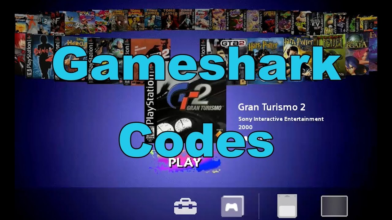 psone gameshark codes