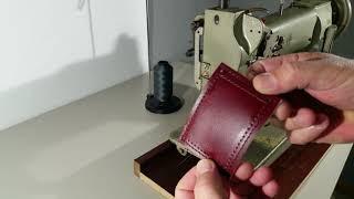 PFAFF 545-H4 industrial walking foot sewing machine demonstration