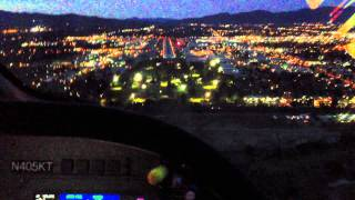 Piaggio landing KVNY at night cockpit P180 Avanti II