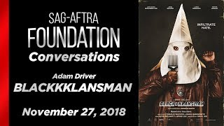 Conversations with Adam Driver of BLACKKKLANSMAN