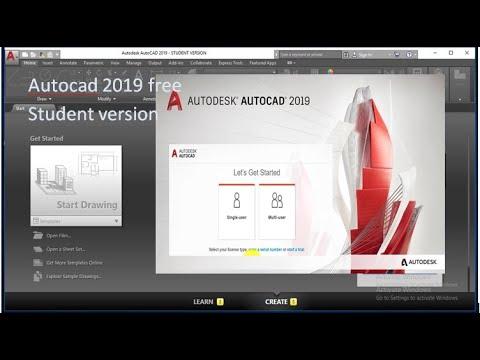 autocad 2019 download student