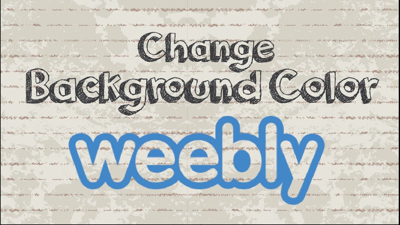 How to change Weebly background color - YouTube