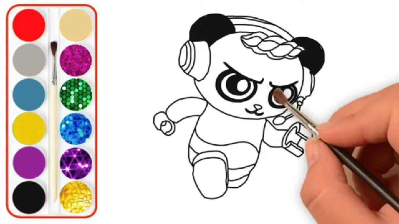 learn colors coloring tag  ryan game combo panda