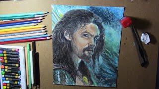 Drawing Jason Momoa - Aquaman