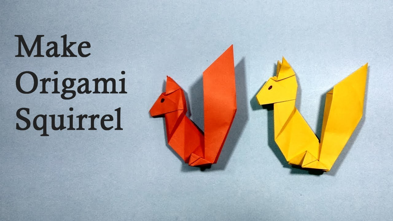 Origami Squirrel Paper Art — Stock Photo © Tetreb88 #180477942   720x1280