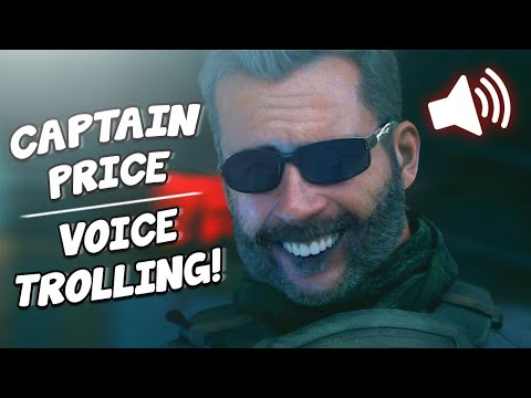 "CAPTAIN PRICE Voice TROLLING on MODERN WARFARE!! ""Bravo Six, Going Dark"""