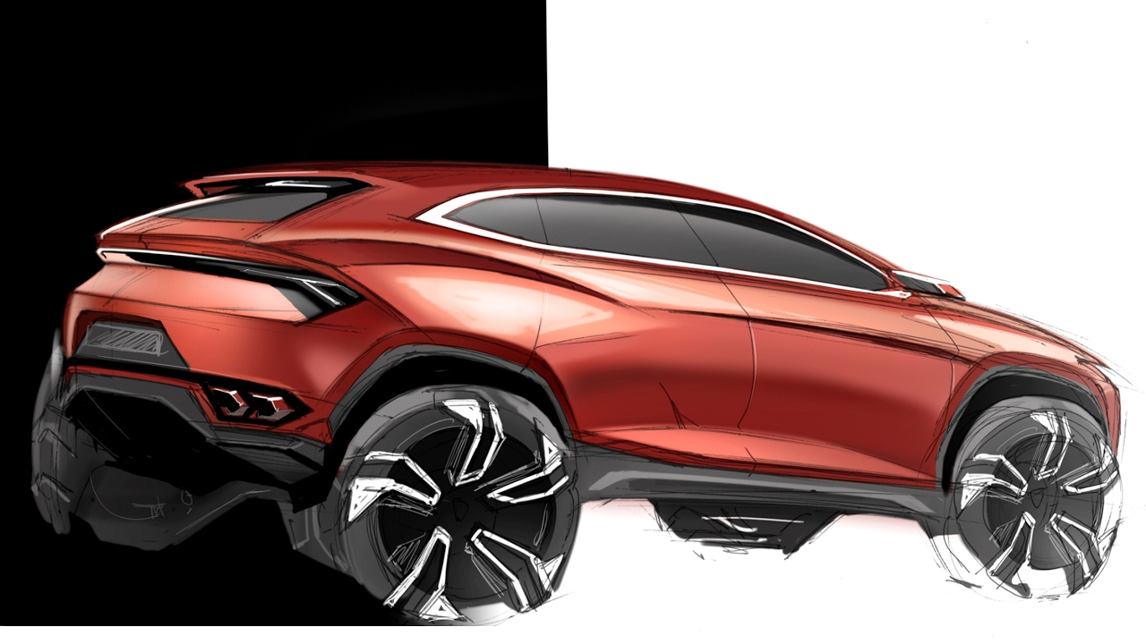 Car Design Sketch Drawing Lamborghini Urus Concept Youtube