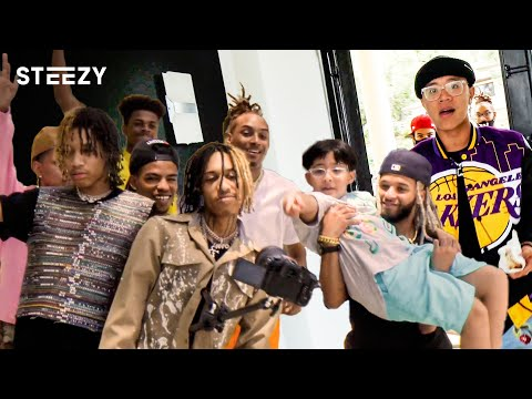 MUSIC VIDEO WITH THE FUTURE KINGZ, AYO & TEO, DYTTO, AND JUSTMAIKO!? | STEEZY Vlog #5