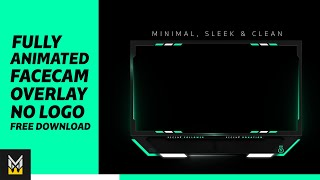 Animated facecam overlay | minimal & clean facecam overlay 2020