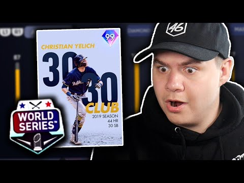 i used the *NEW* 99 CHRISTIAN YELICH in my WORLD SERIES game!!