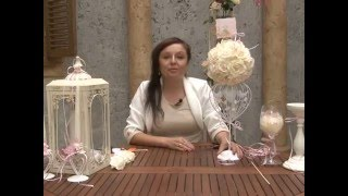 видео украшение свадебного стола