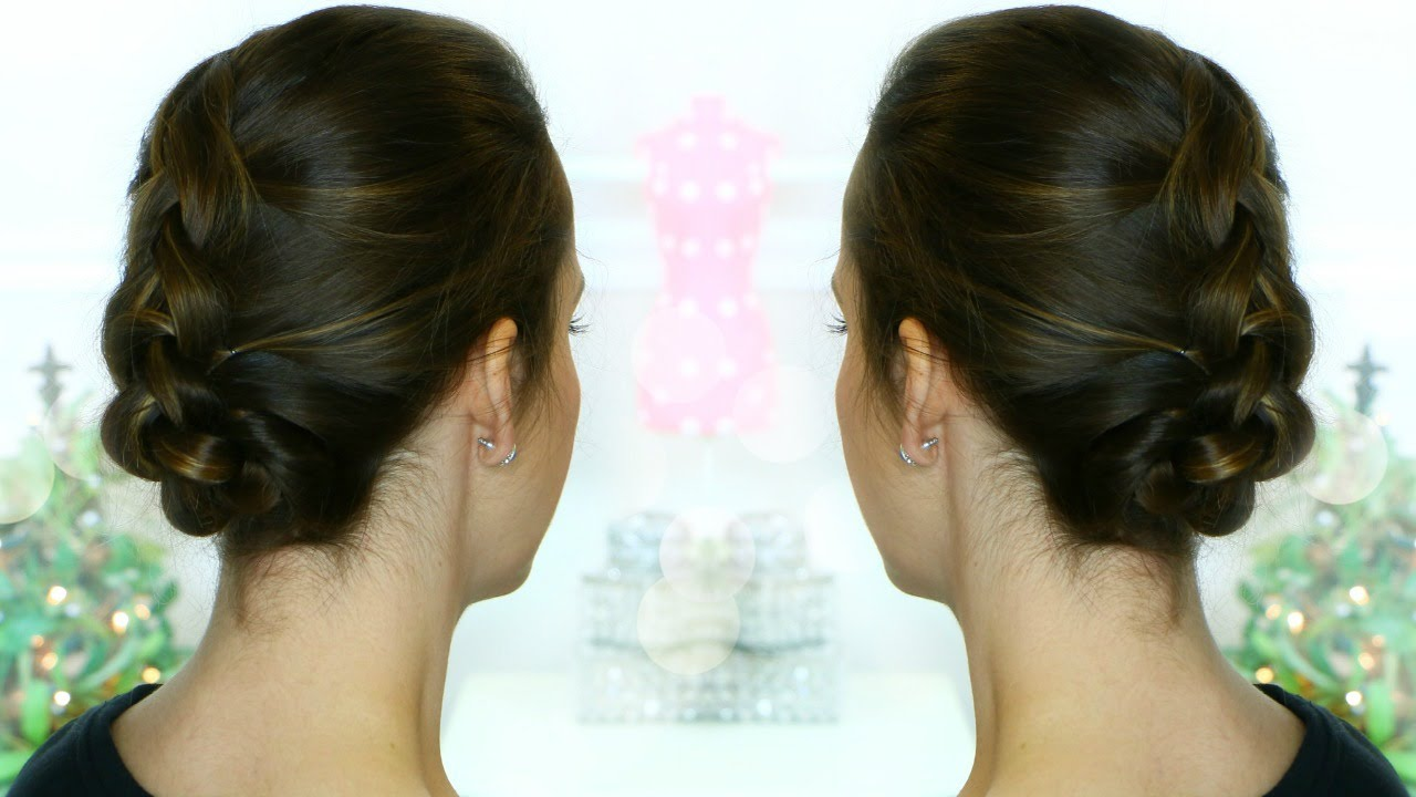 French Braid Up Do For Fine Thin Hair Youtube