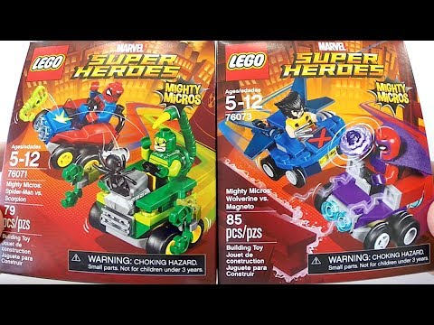 d725a7e3eb3c4 Lego Homem Aranha vs Escorpião e Wolverine vs Magneto - Mighty Micros Marvel