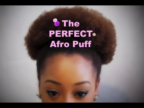 Natural Hairstyles Perfect Afro Puff Youtube
