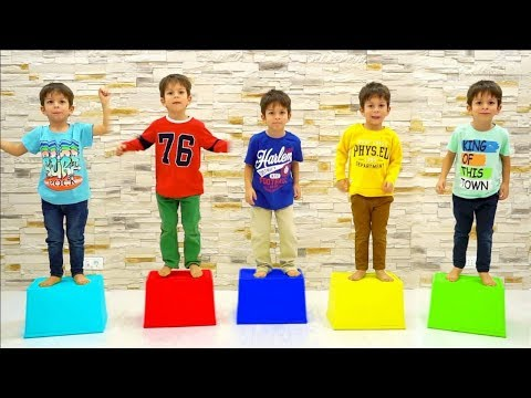 Five Little Babies Jumping on the Chairs  5 Little Monkeys Jumping on the bed Nursery Rhymes Songs