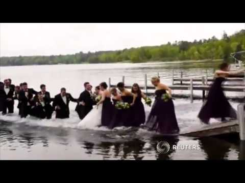 Bridal Party Falls Into Lake During Photos... Before the Wedding!