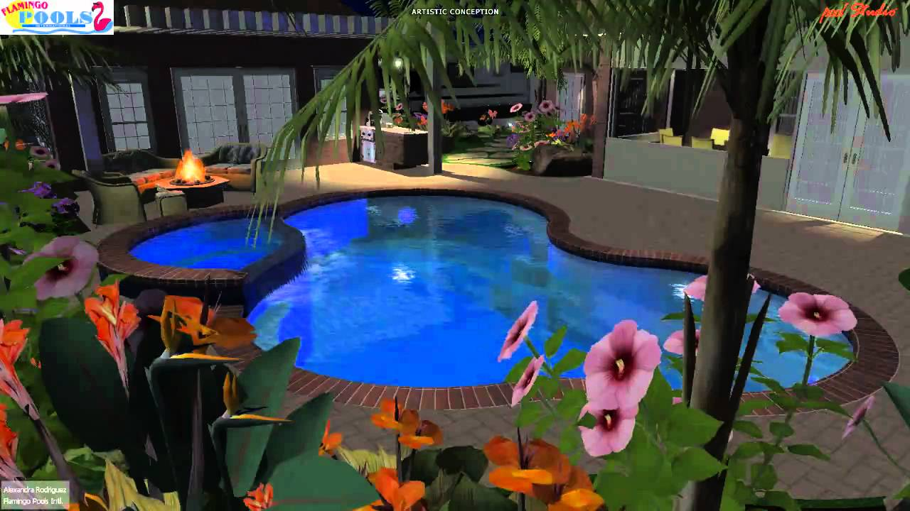 3d swimming pool design dorothy m mcallen tx youtube for Swimming pool 3d design