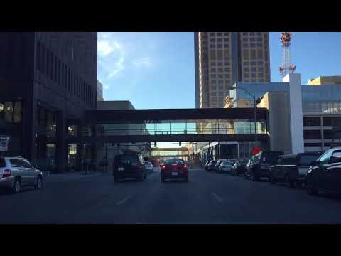 Driving Downtown - Des Moines USA