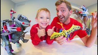 Father & Son GET MOST EPIC TOYS EVER! / Dino Riders
