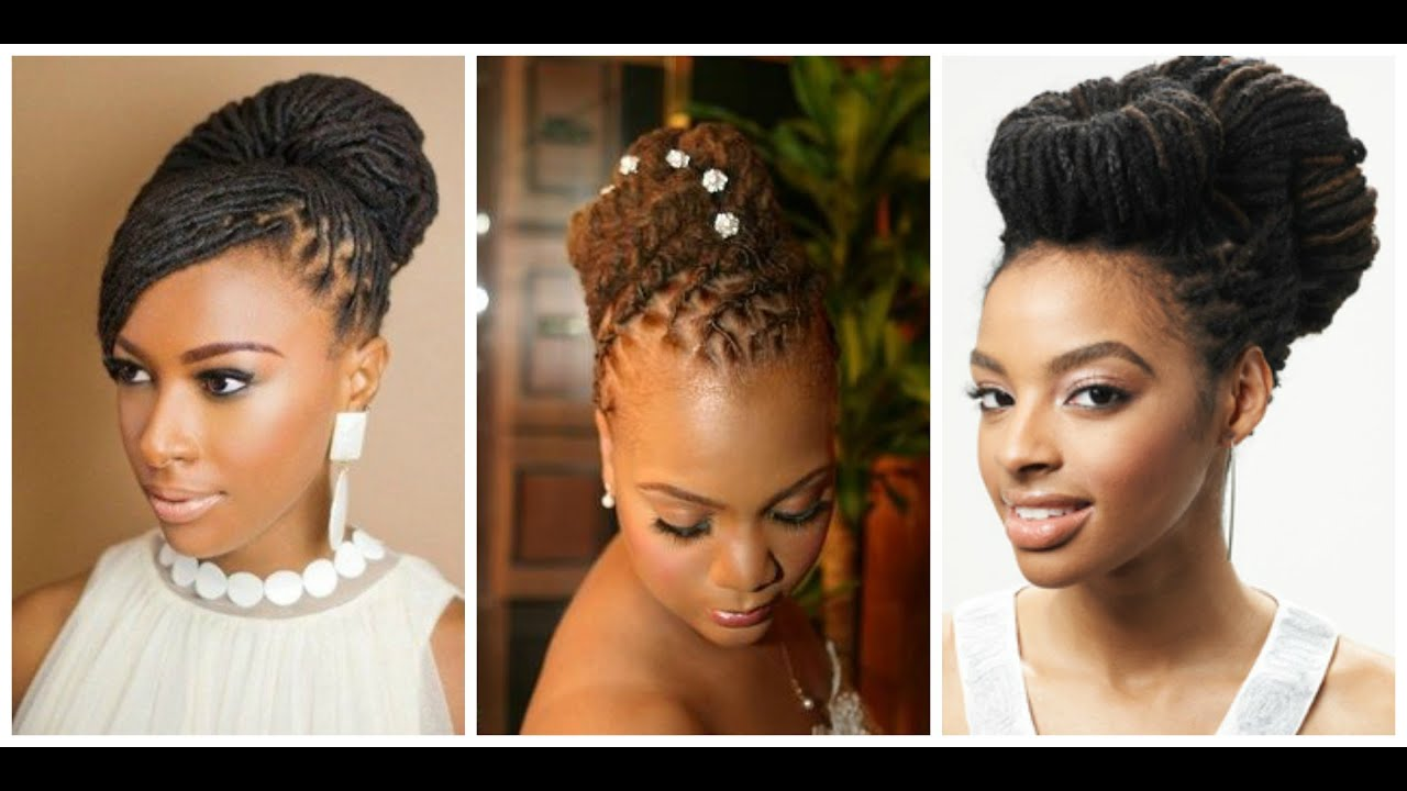 loc updo hairstyles | dreadlock inspirations