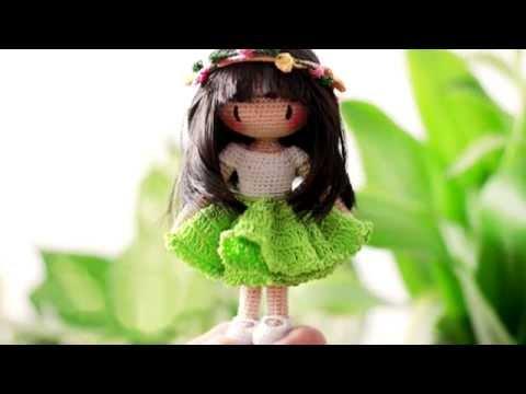 Каркасная кукла крючком. Crochet doll.
