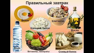 Уроки правильного питания. Урок 2. Правильный завтрак