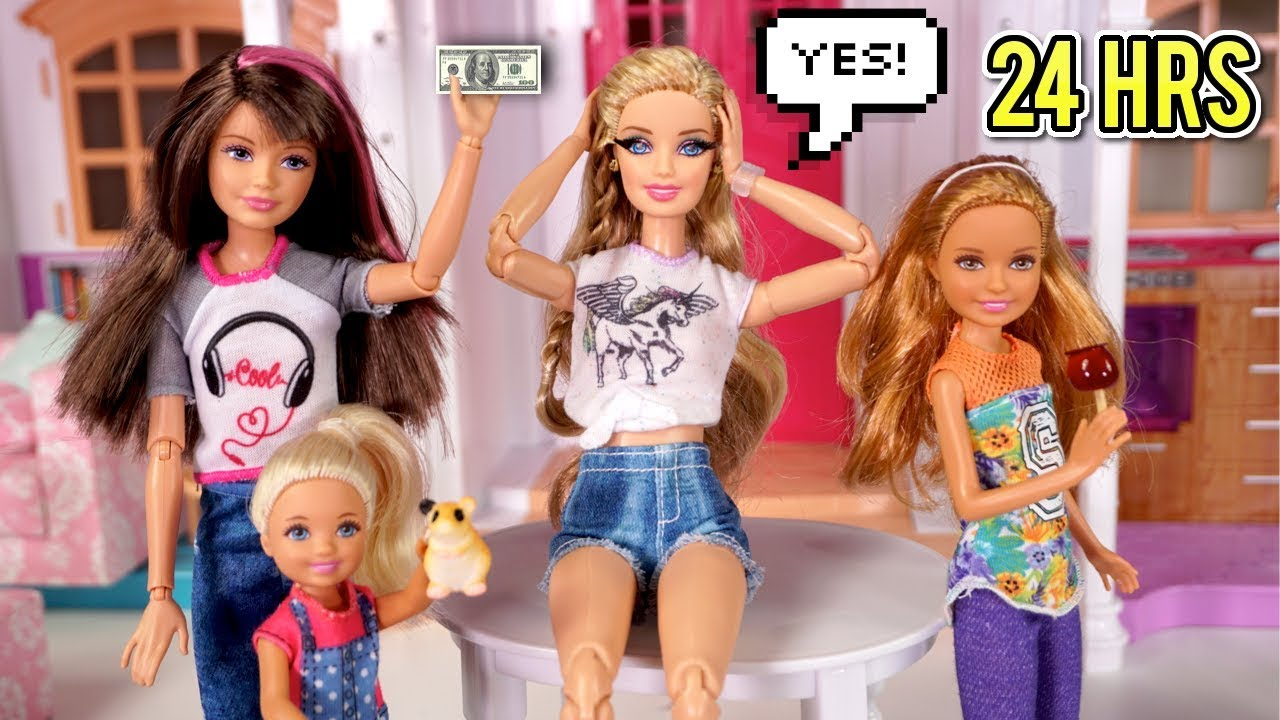Barbie Says Yes To Everything For 24 Hours Challenge Youtube