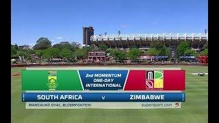 South Africa vs Zimbabwe | Highlights | Momentum 2nd ODI