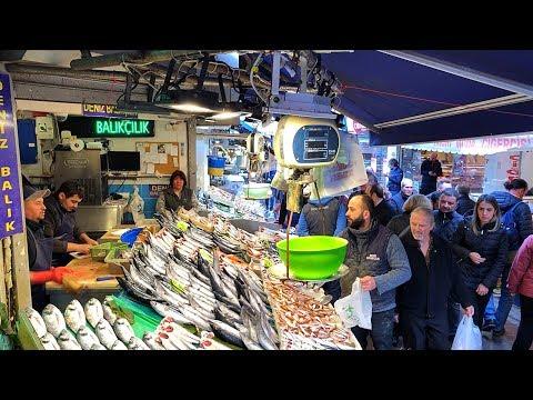 Fish Market In Kadıköy - Istanbul