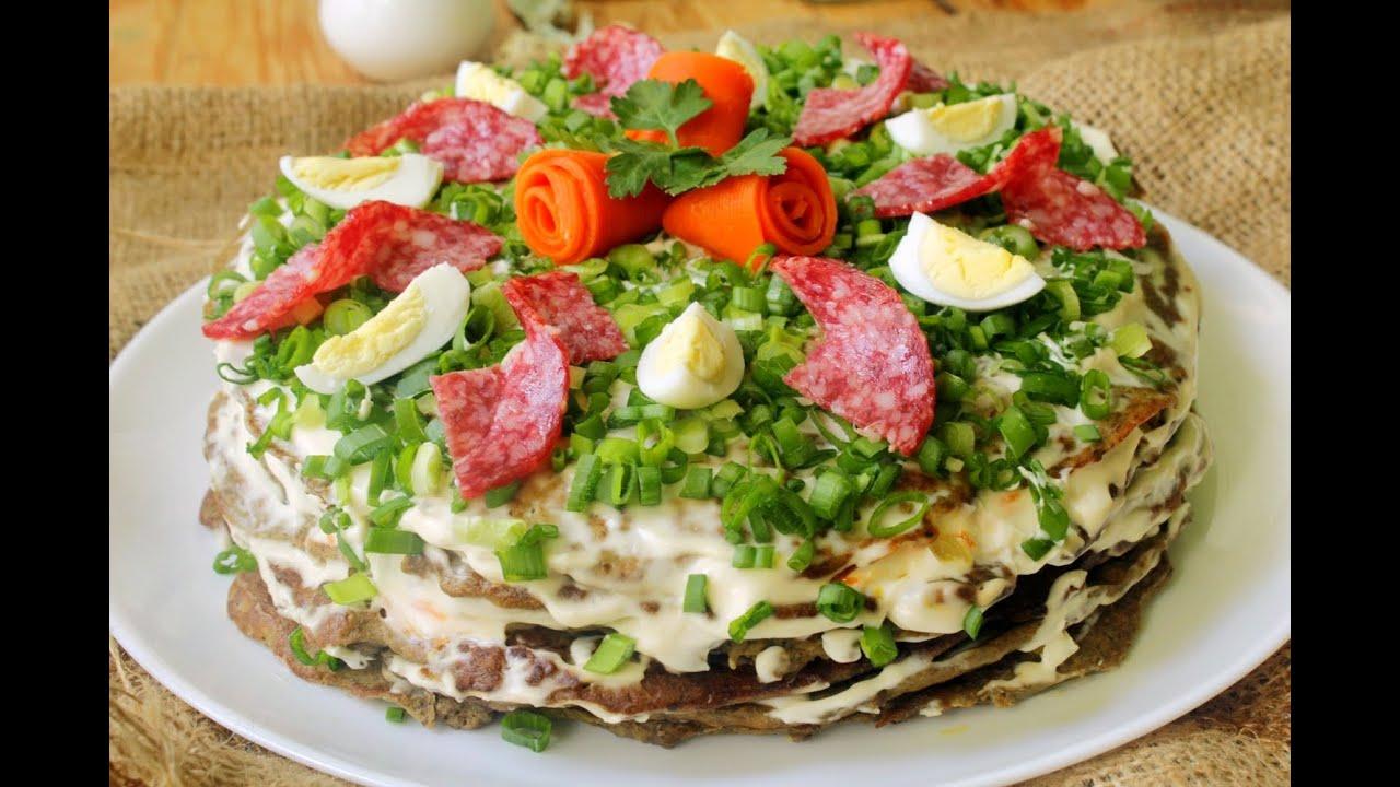 рецепт торт из печенки с фото