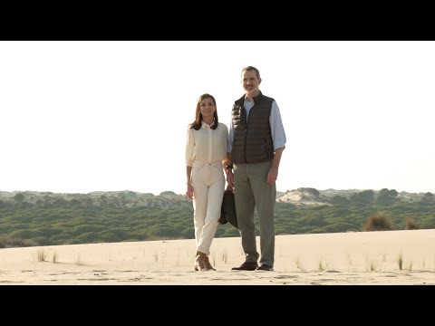 A raíña Letizia e o rei Felipe celebran San Valentín en Doñana