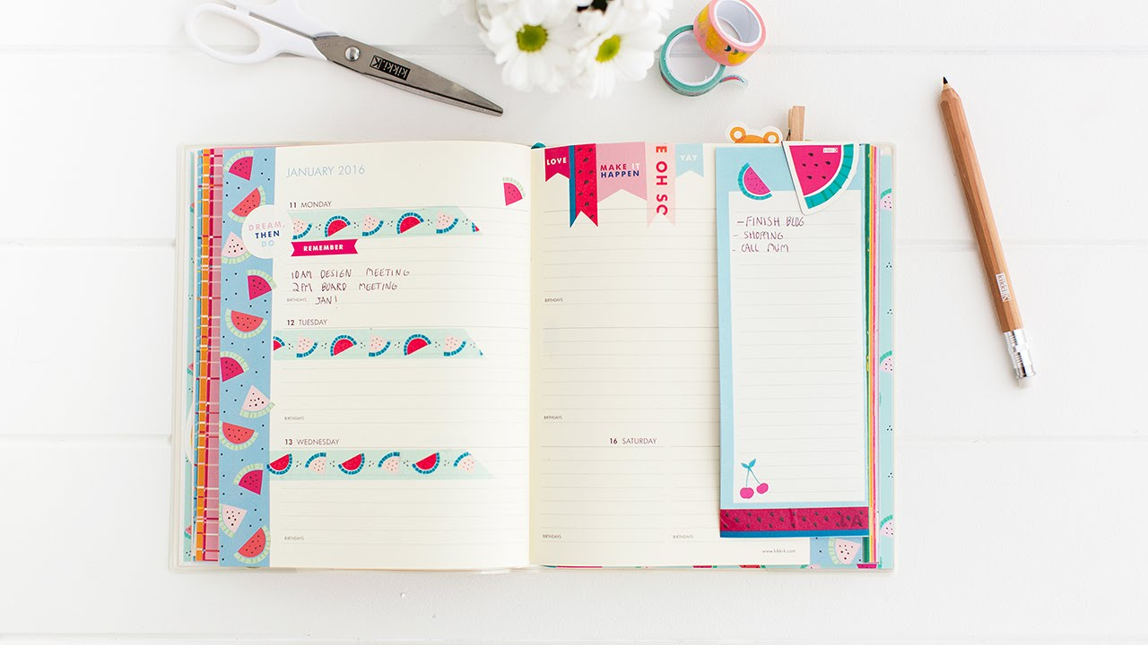 How to Organise your kikki.K Cute Diary - YouTube