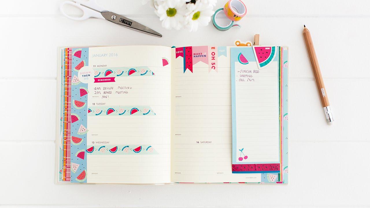 How to Organise your kikki.K Cute Diary - YouTube