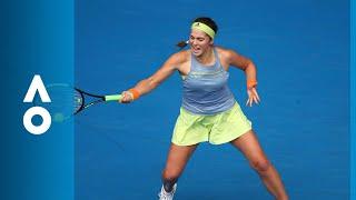 Jelena Ostapenko v Francesca Schiavone match highlights (1R) | Australian Open 2018
