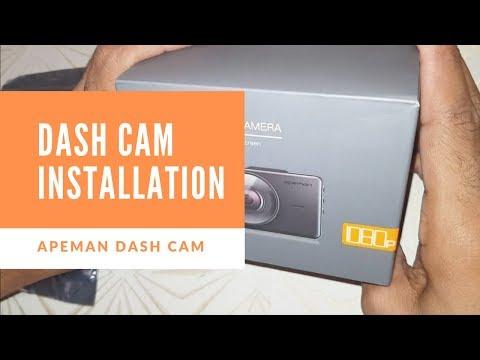 APEMAN C450 Dash Cam Installation & Review