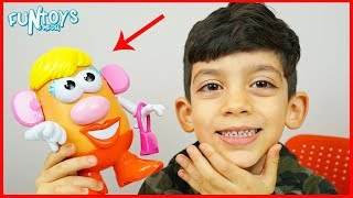 Learn Body Parts Names with Mrs Potato Head for Children