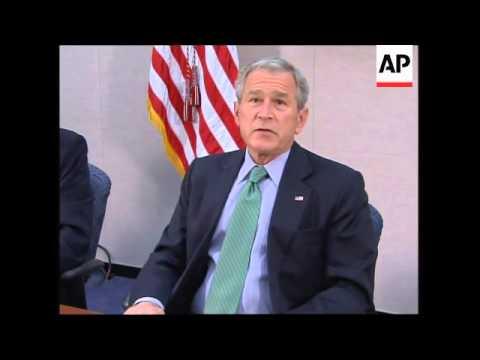 President Bush comment on economy