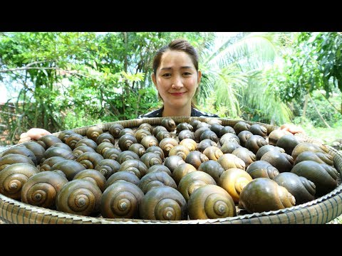 Yummy Snail Green Curry Noodle Powder Cooking – Snail Curry Cooking – Cooking With Sros