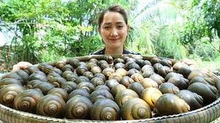 Yummy Snail Green Curry Noodle Powder Cooking - Snail Curry Cooking - Cooking With Sros