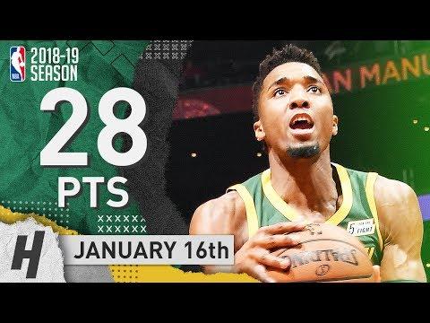 Donovan Mitchell Full Highlights Jazz vs Clippers 2019.01.16 - 28 Pts, 6 Ast, SICK!