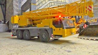 RC Crane Truck Liebherr LTM 1055! Heavy RC Hydraulic Press in Action / Volvo L250G
