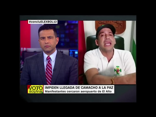 Impiden a Luis Fernando Camacho llegar a La Paz a entregar carta de renuncia para Evo Morales (CNN)