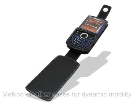 Melkco Tasche Leder Etui cuir ~Samsung Saga SCH-i770 Flip Down Type (Black) Ver. 2