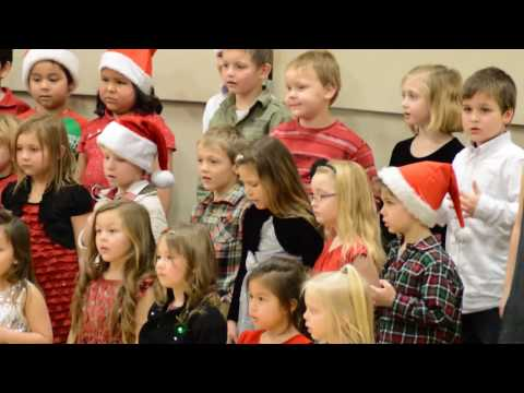 Ellie's Warroad Elementary School Kindergarten Class Christmas concert 2016 song 5