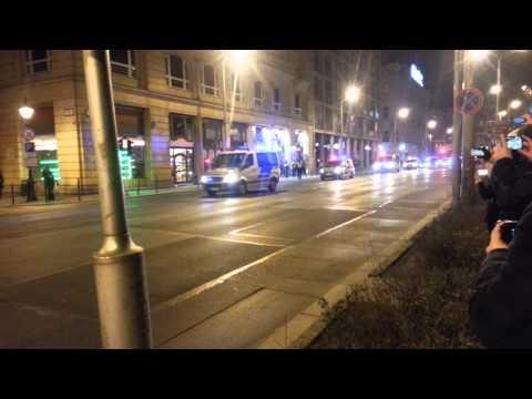 Кортеж Путина в Будапеште